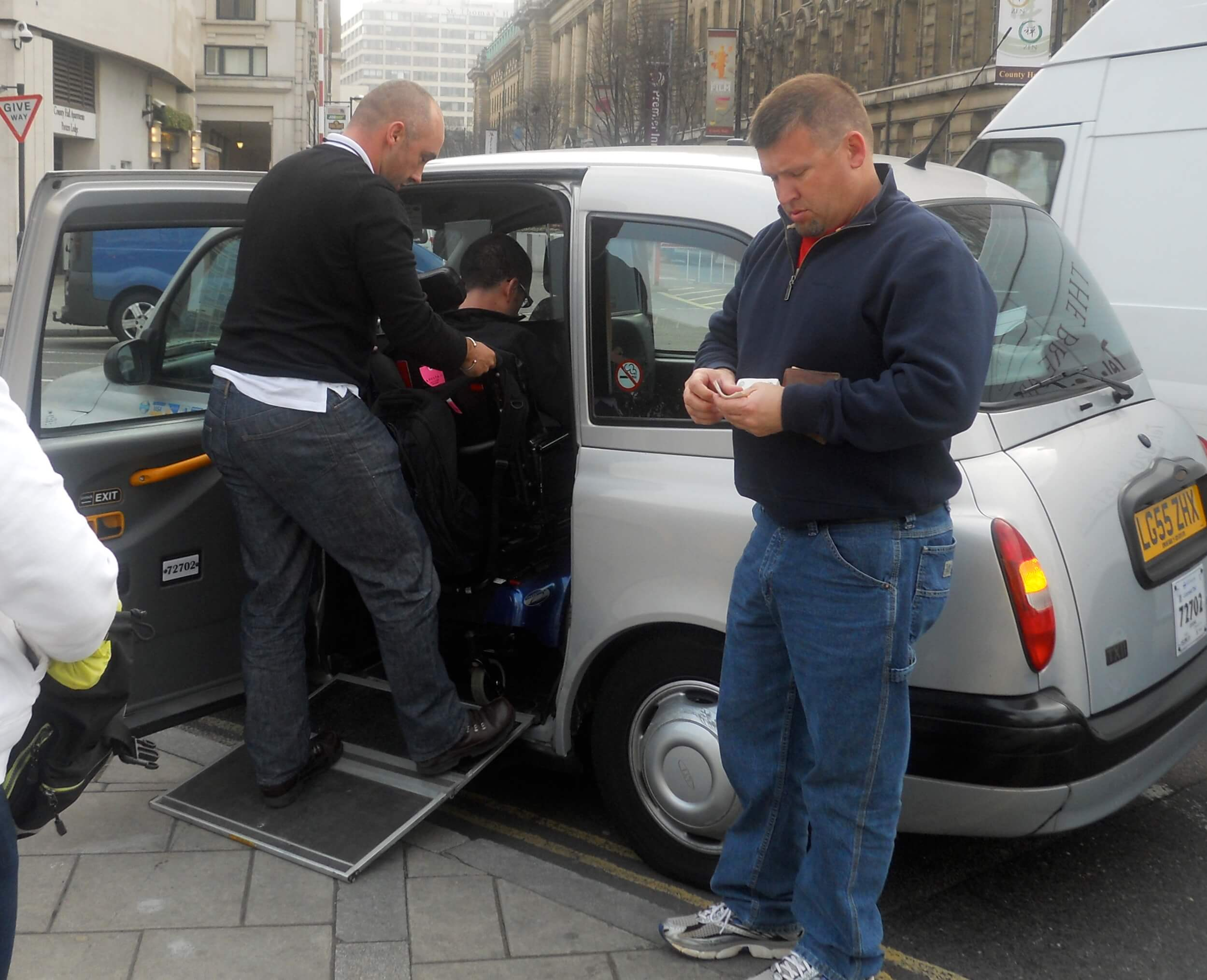 Just one of the many accessible taxis in London