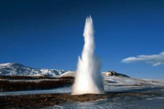 A geysir in Iceland.