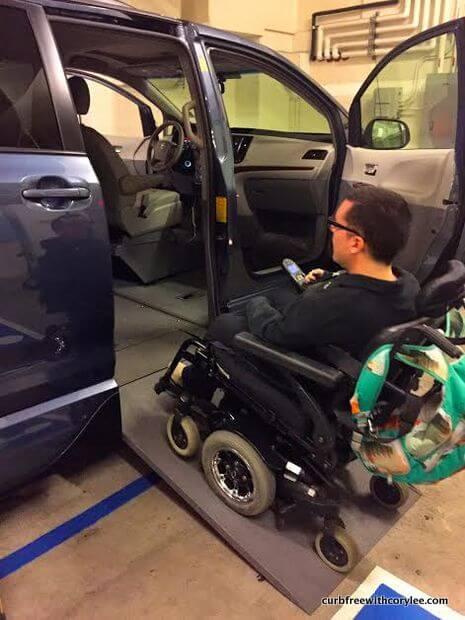wheelchair accessible van rental los angeles
