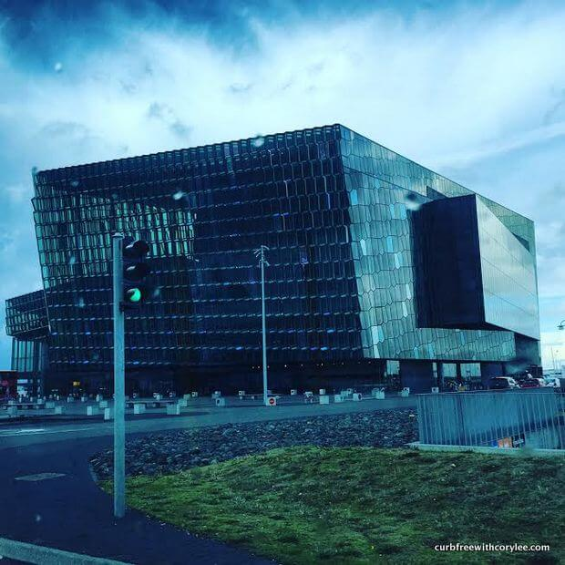 Harpa is stunningly beautiful! wheelchair accessible things to do in reykjavik iceland