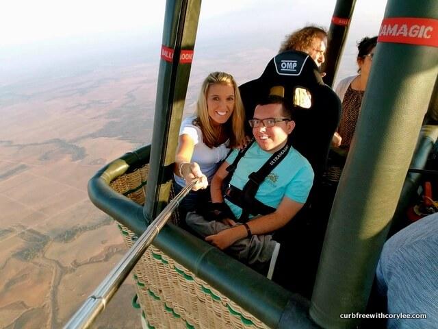 wheelchair accessible hot air balloon over israel