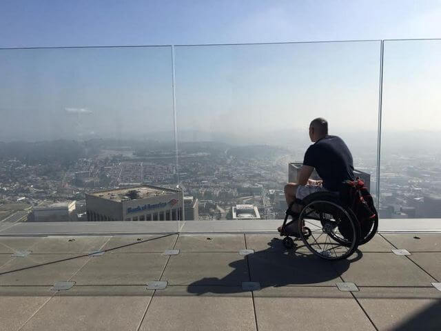 Shaun at the OUE Skyspace building in LA