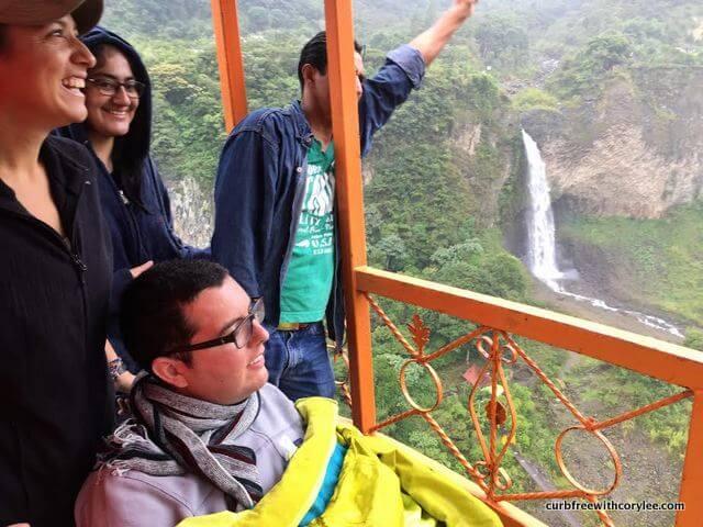 wheelchair accessible cable car banos ecuador