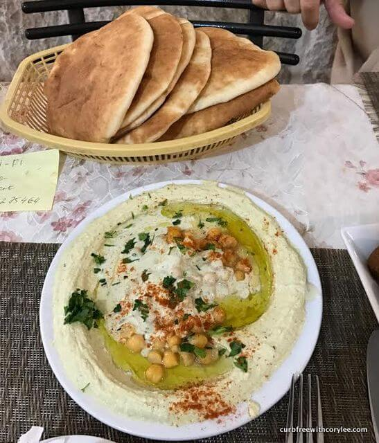 Hummus and pita!