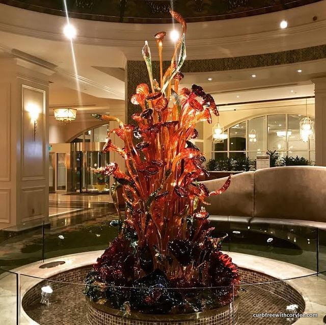 A beautiful sculpture in the lobby