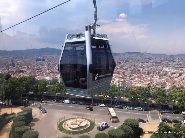 Barcelona wheelchair access guide, things to do in barcelona, barcelona tourist information, wheelchair accessible barcelona, barcelona travel guide, cable car