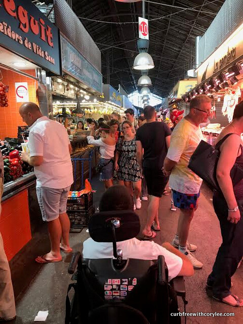 Barcelona wheelchair access guide, things to do in barcelona, barcelona tourist information, wheelchair accessible barcelona, barcelona travel guide, market