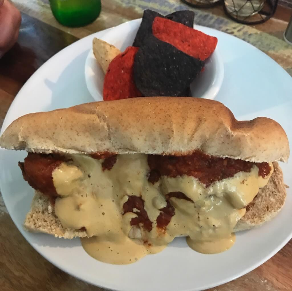 Meatless meatball sub