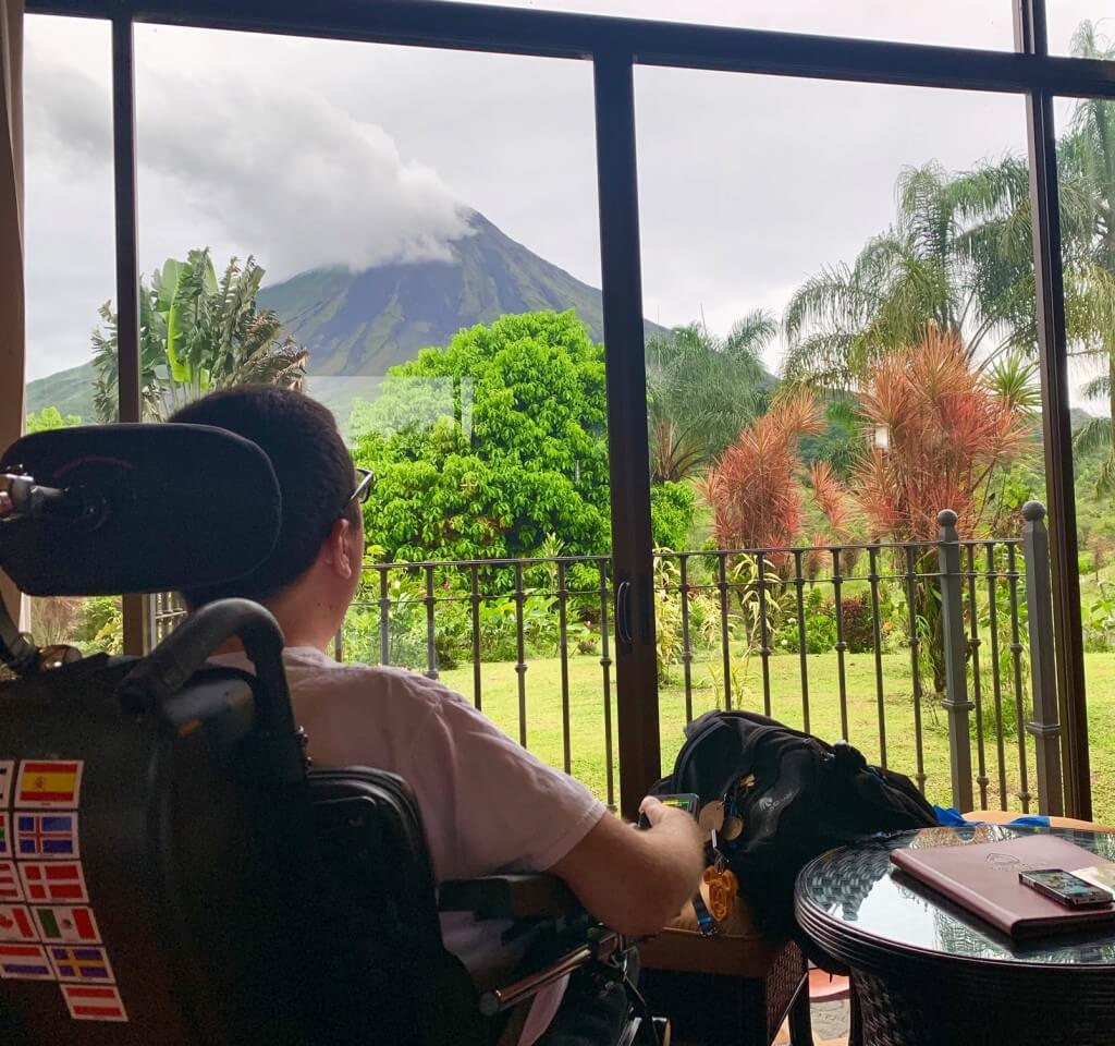 View from my room at Arenal Kioro. wheelchair accessible La Fortuna Costa Rica